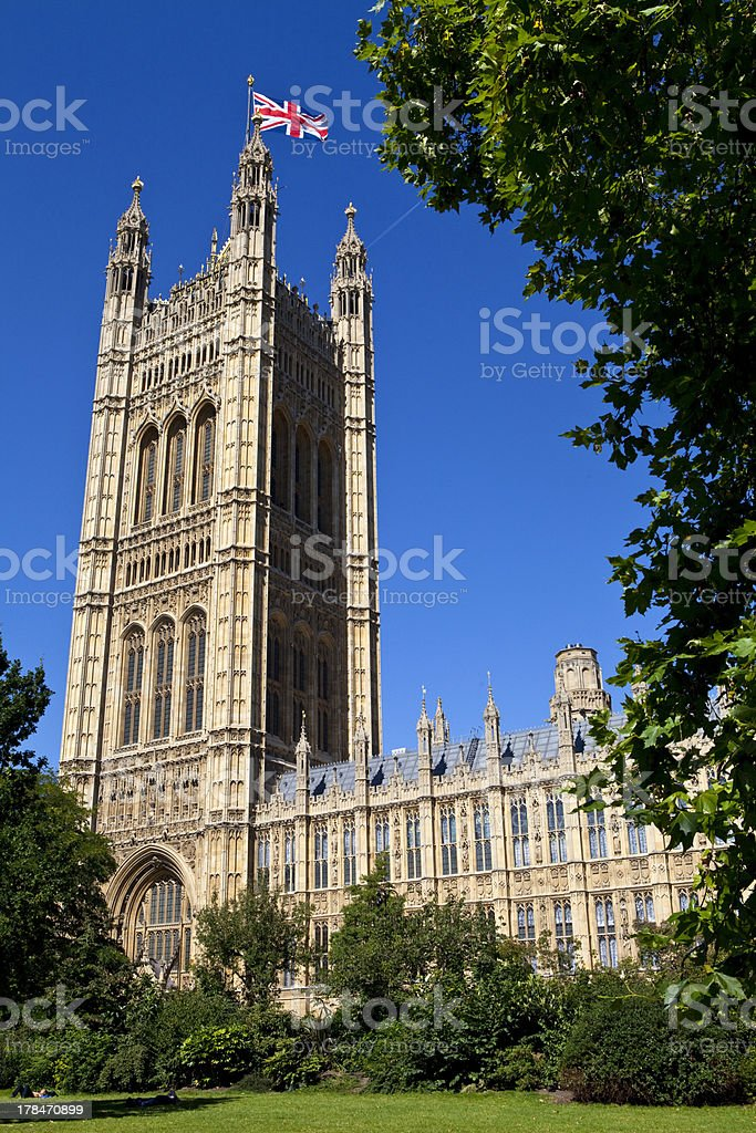 Victoria Tower at the Houses of Parliament royalty-free stock photo