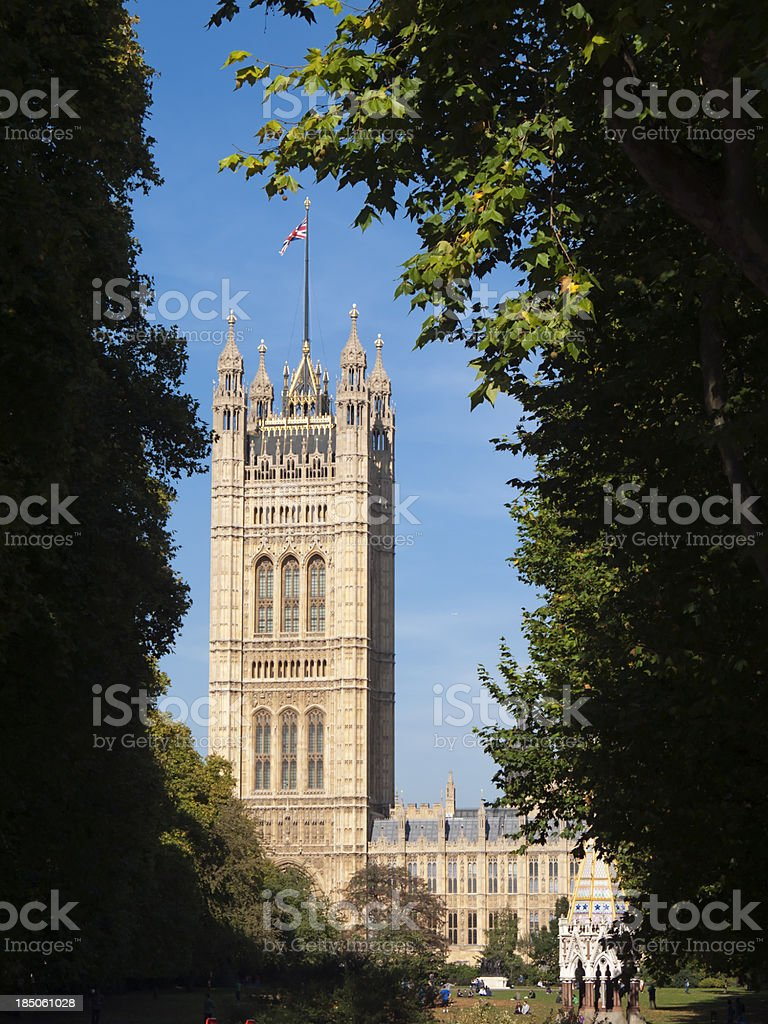Victoria Tower Houses of Parliament, London royalty-free stock photo