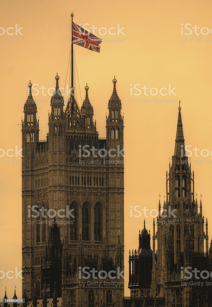 Victoria Tower, Houses of Parliament royalty-free stock photo