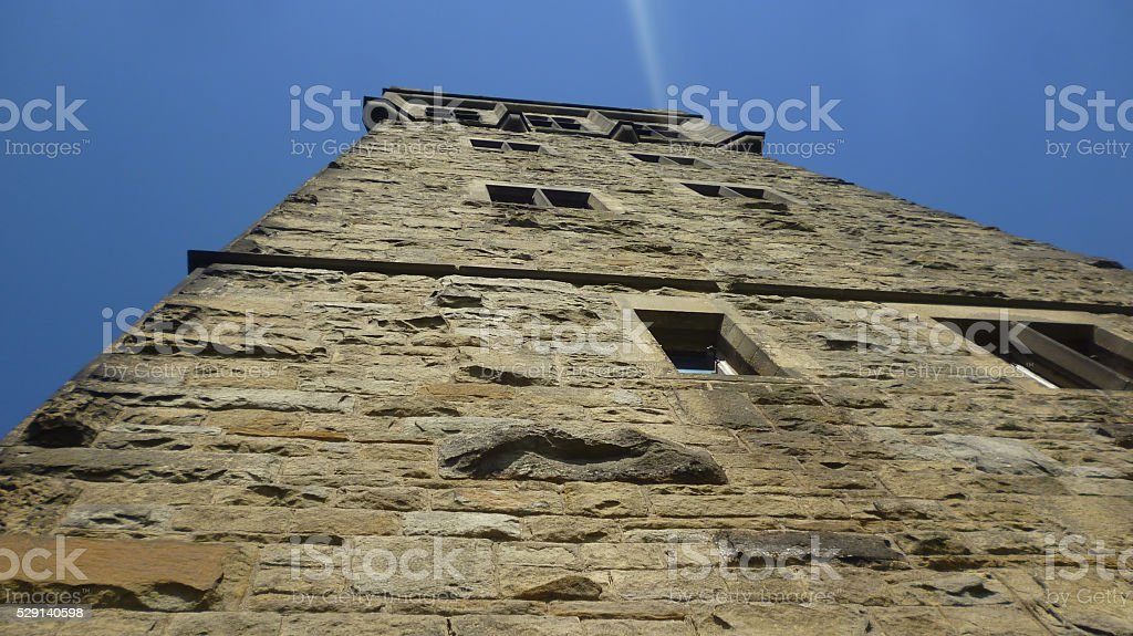 Victoria Tower in Huddersfield stock photo