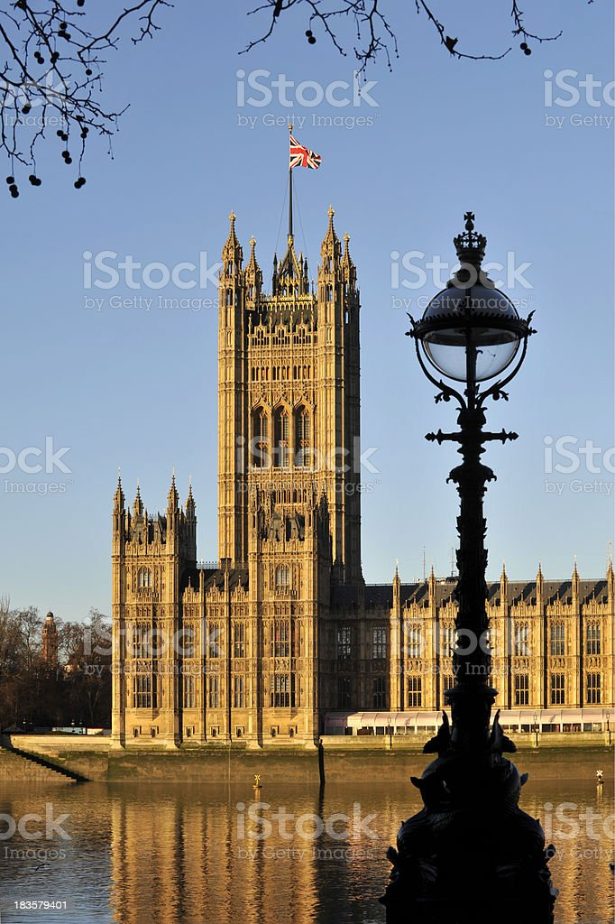 Victoria tower in London. royalty-free stock photo