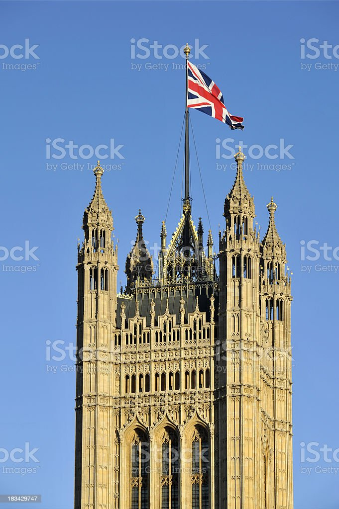 Victoria tower. London stock photo