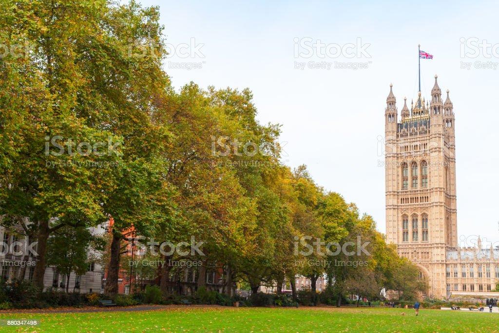 Victoria Tower,  London, United Kingdom stock photo