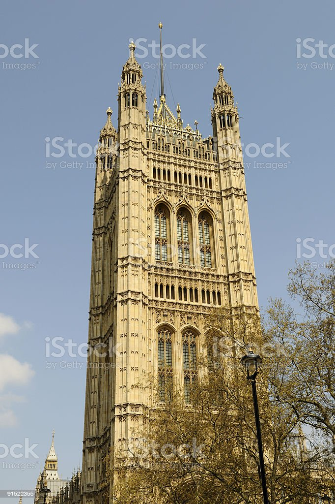 Victoria Tower Westminster London England UK stock photo