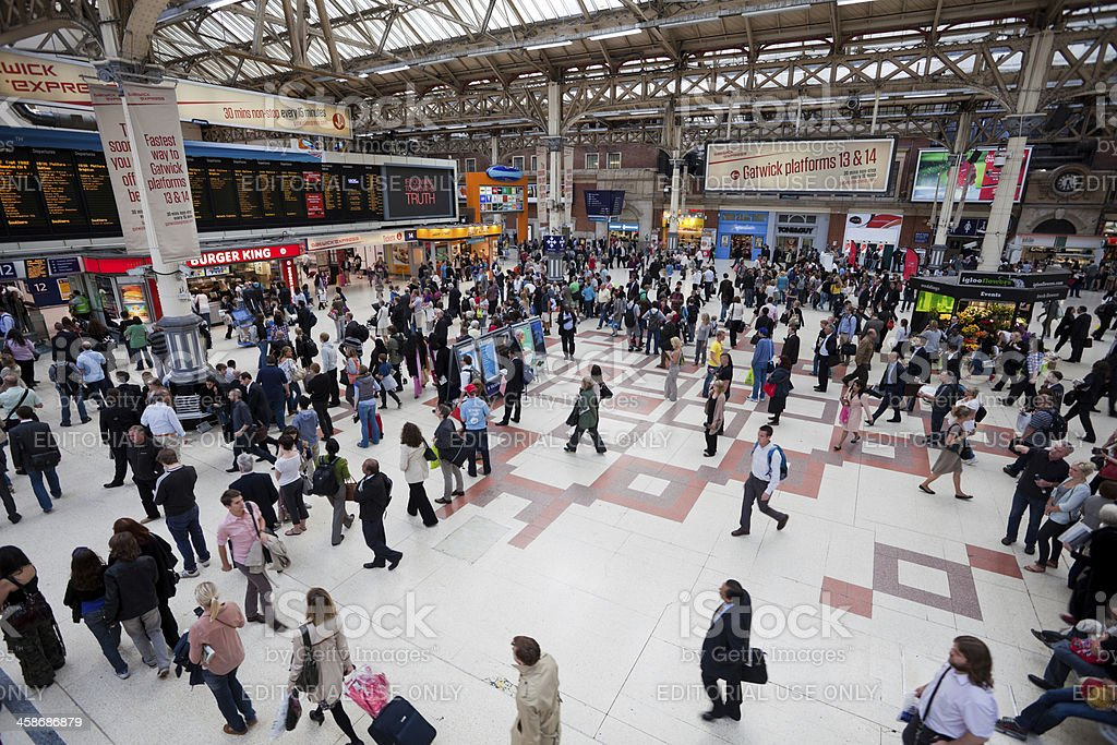 Victoria Train and Underground Station in London stock photo