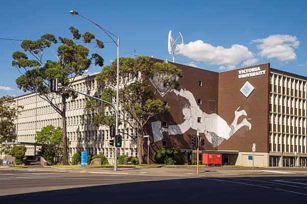 victoria university, melbourne - victoria australia foto e immagini stock