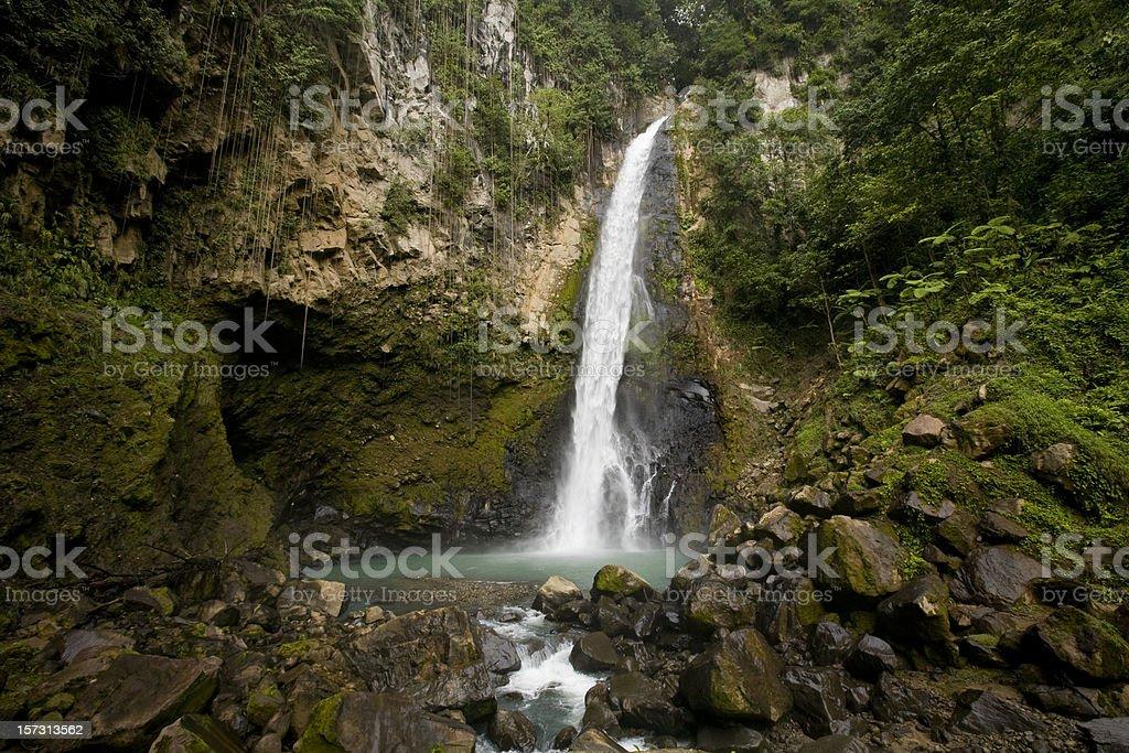 Victoria Waterfall in Dominica stock photo
