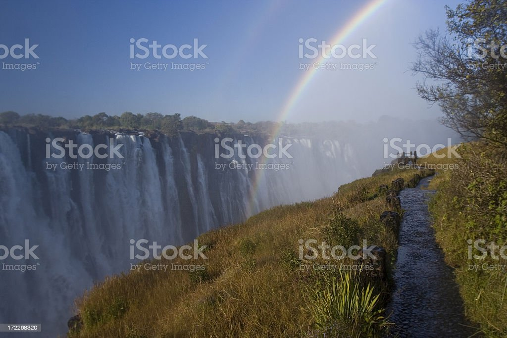 Victoria waterfalls royalty-free stock photo