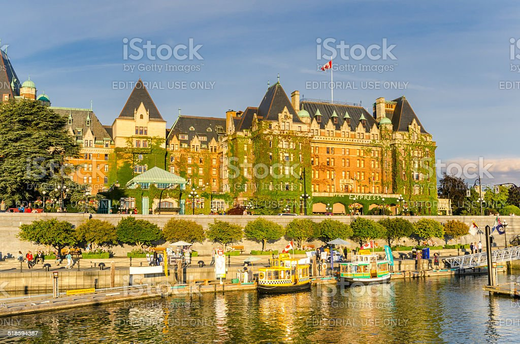Victoria Waterfront at Sunset stock photo