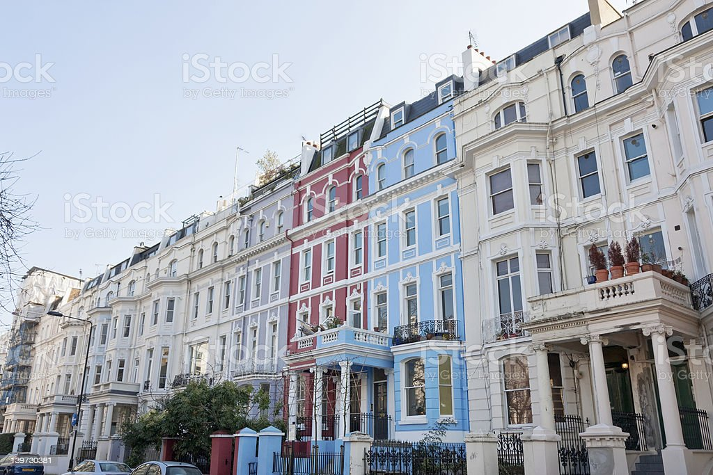 Victorian Apartment Buildings In London stock photo | iStock