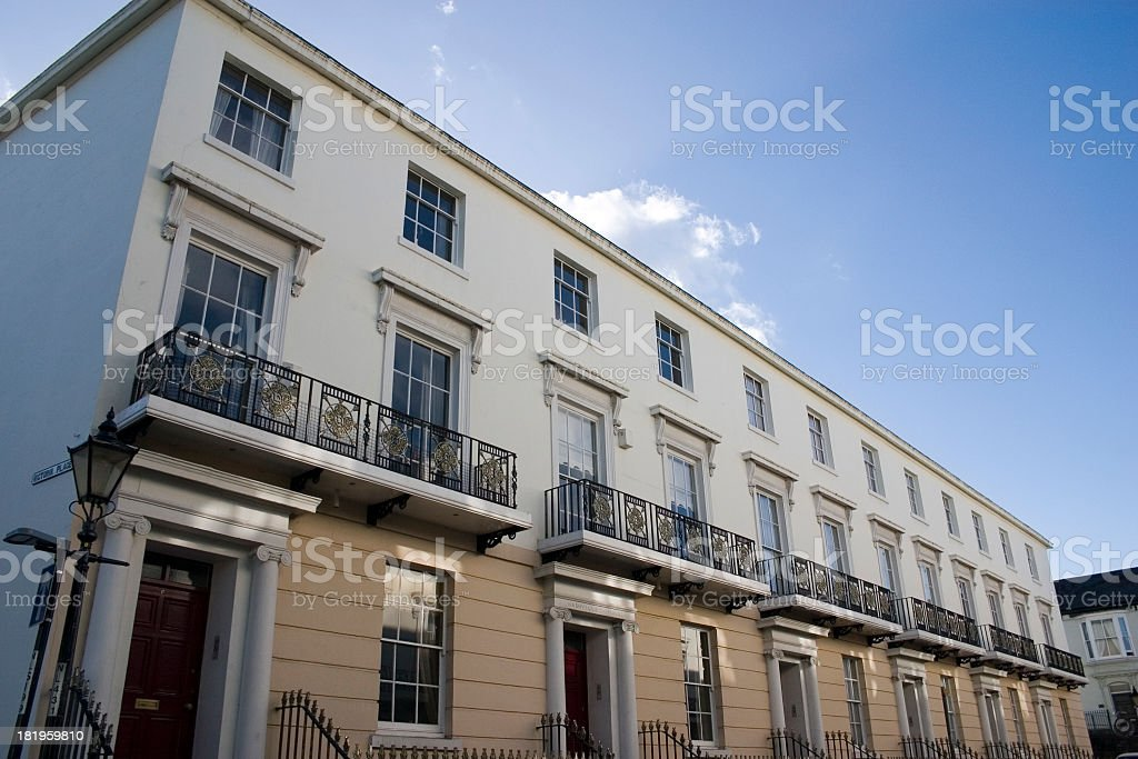 Victorian Apartments in newport gwent stock photo