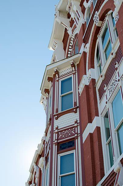 Victorian architecture building stock photo
