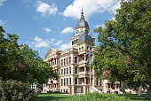 Recently restored Denton County Texas courthouse at North Texas town of Denton. Built in 1896.(To see all my Texas Courthouses, click here)