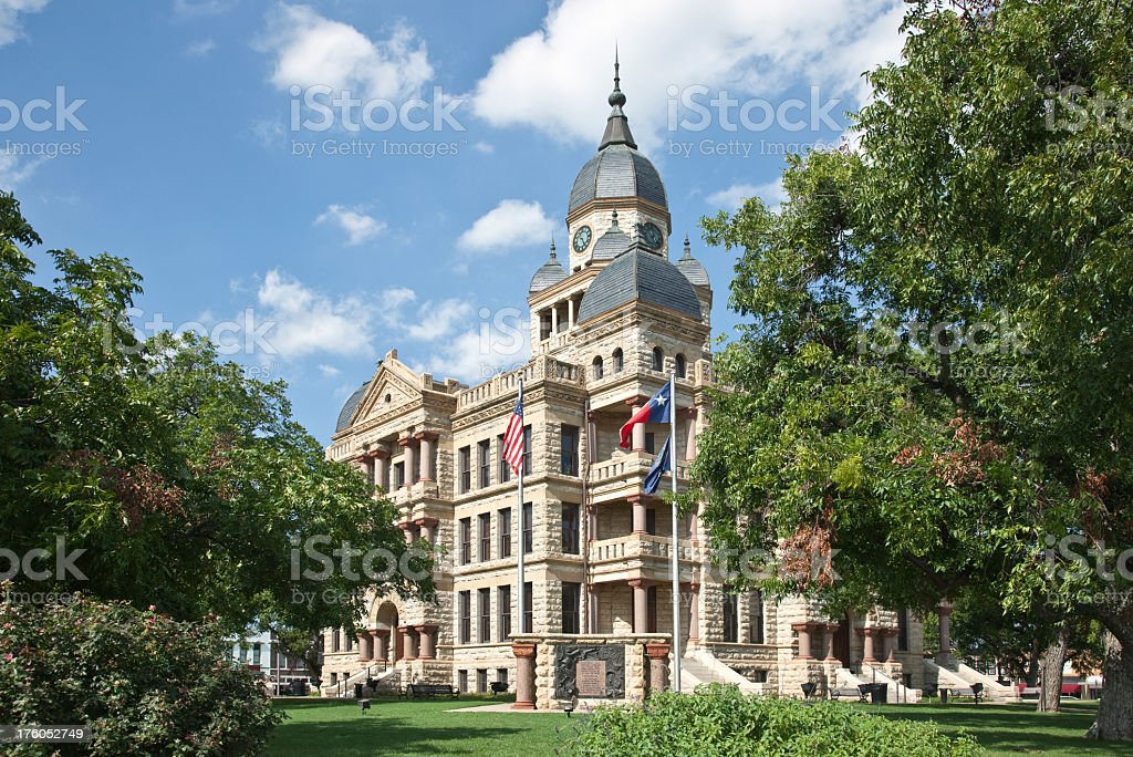 Victorian architecture of Denton County courthouse stock photo