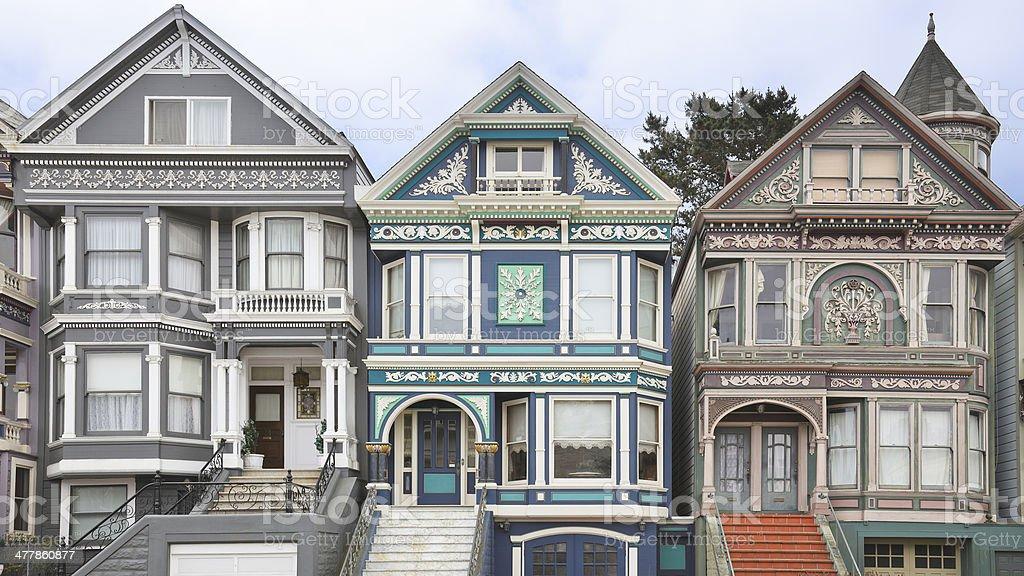 Victorian Architecture - San Francisco royalty-free stock photo