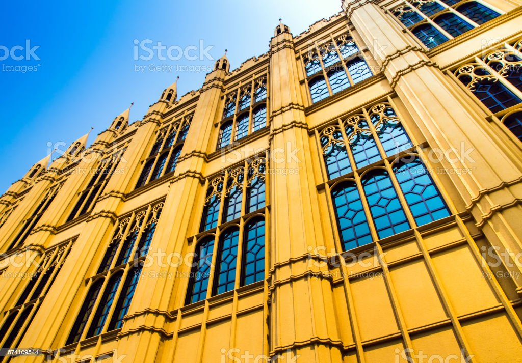 Victorian architecture style building royalty-free stock photo
