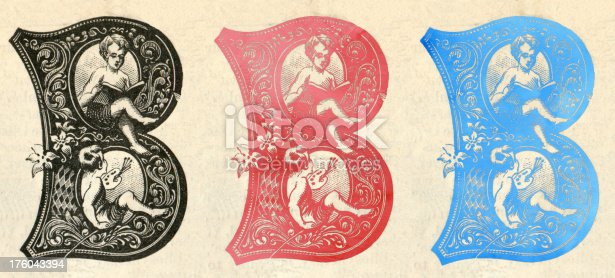 istock Victorian B letter set 176043394
