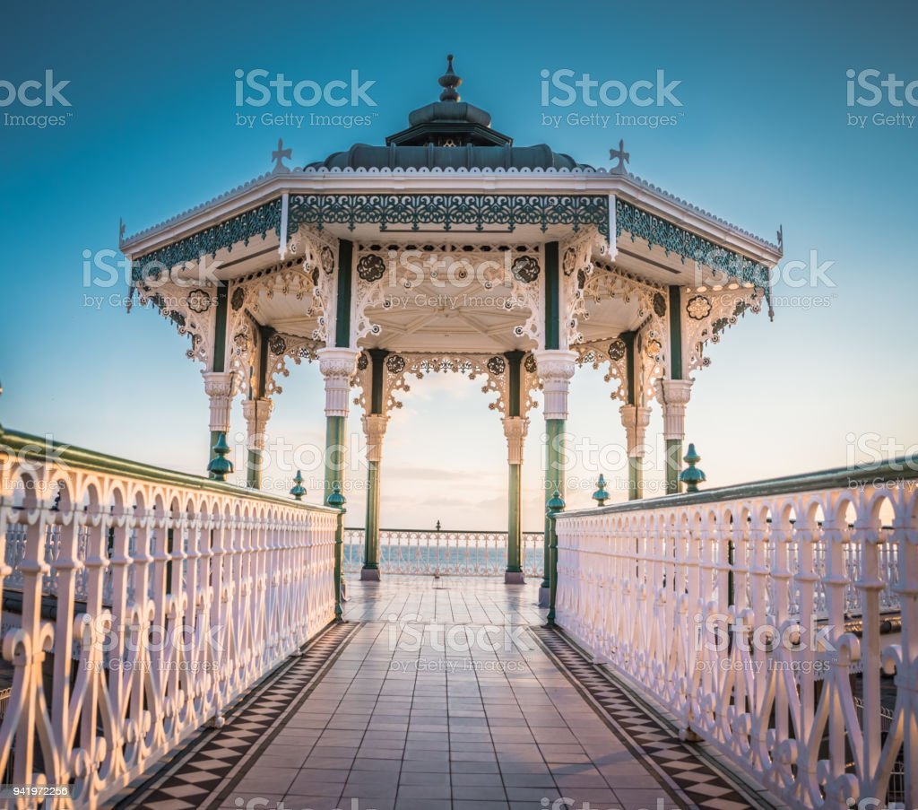 Victorian bandstand in Brighton stock photo