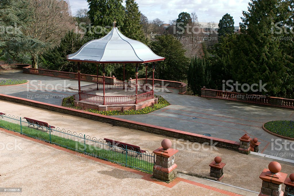 victorian bandstand in the park newport gwent uk stock photo