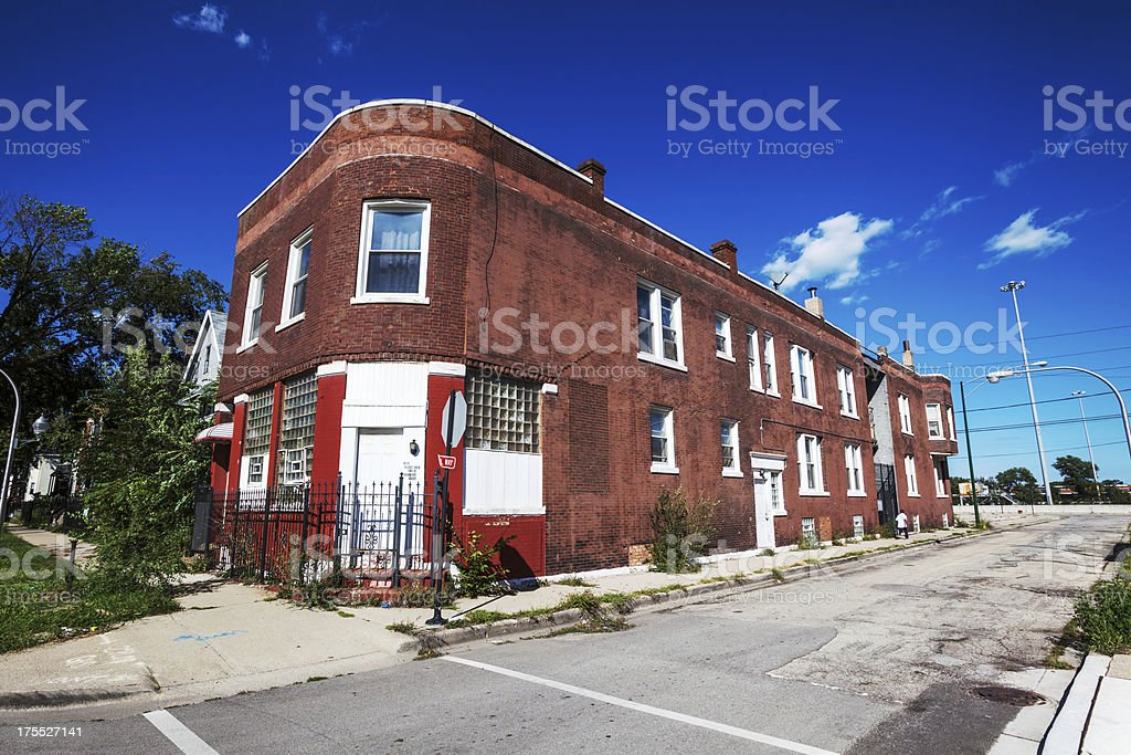 Victorian Bar and Residential Building, Fuller Park, Chicago royalty-free stock photo