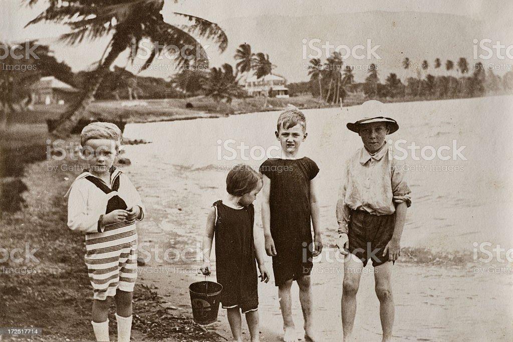 Victorian beach stock photo
