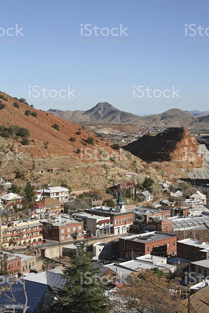 Victorian Bisbee Arizona And The Copper Queen Mine stock photo