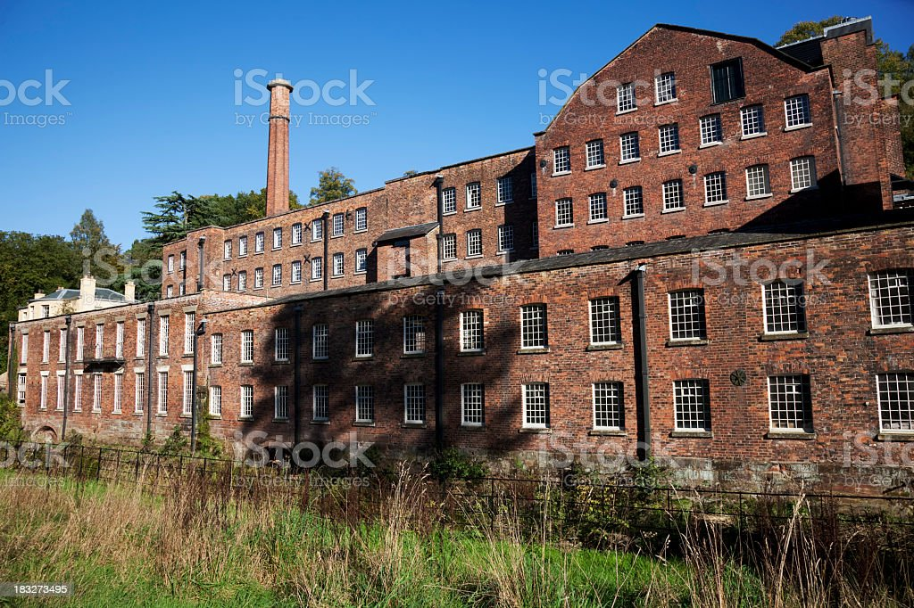 A Victorian brick built cotton mill stock photo
