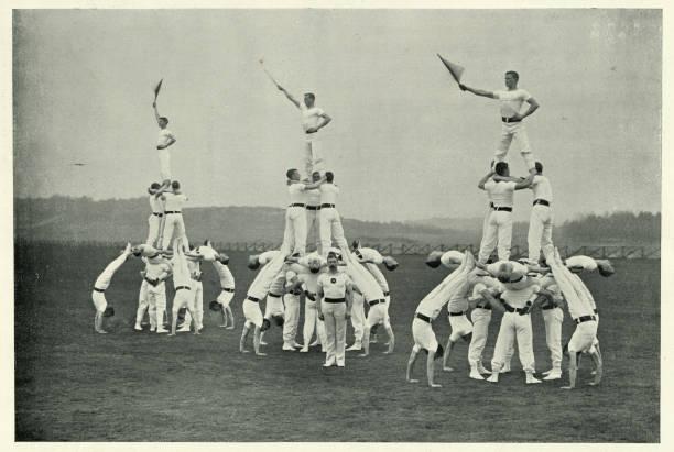 Viktorianischen britischen Armee, Gymnastik-Team, lebende Pyramiden Display, 1890er Jahre – Foto