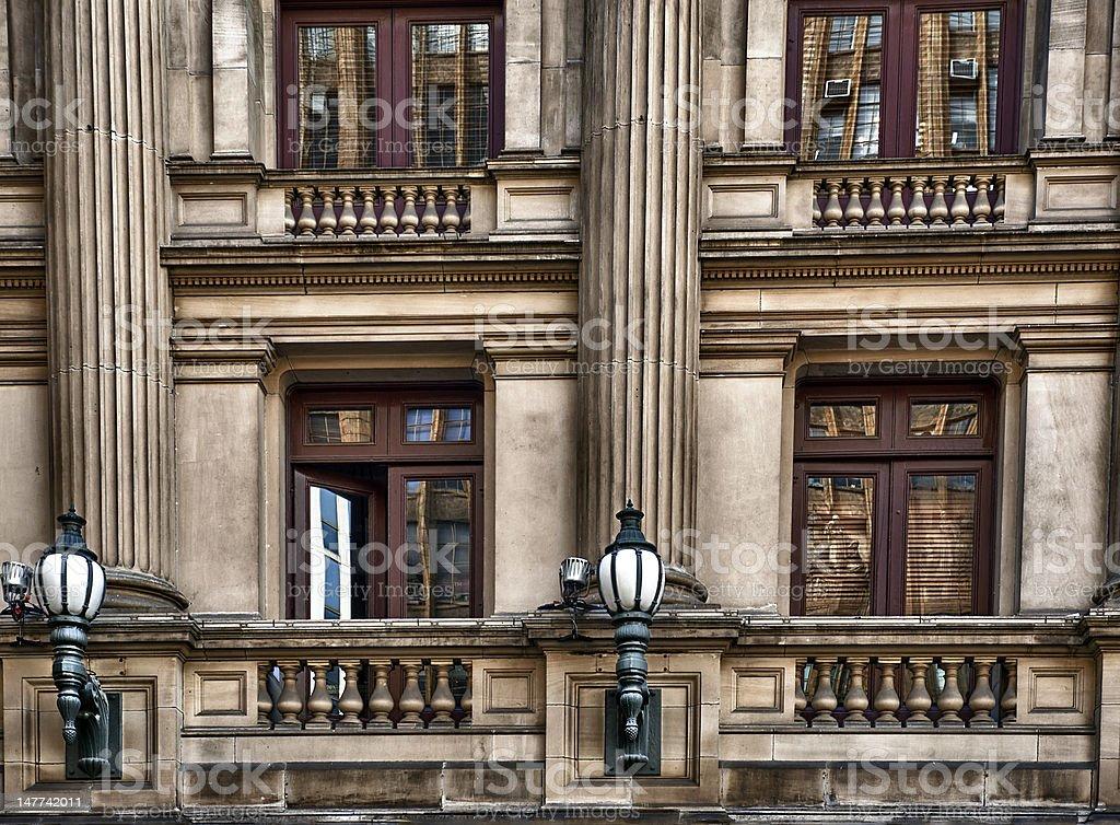 Victorian Building Balcony Facade stock photo