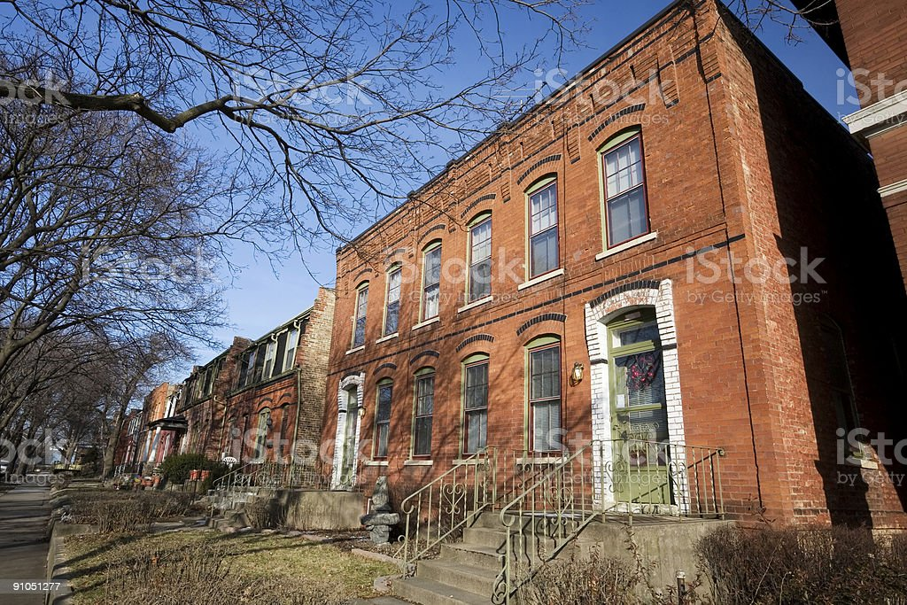 Victorian Chicago House in Pullman, Chicago royalty-free stock photo