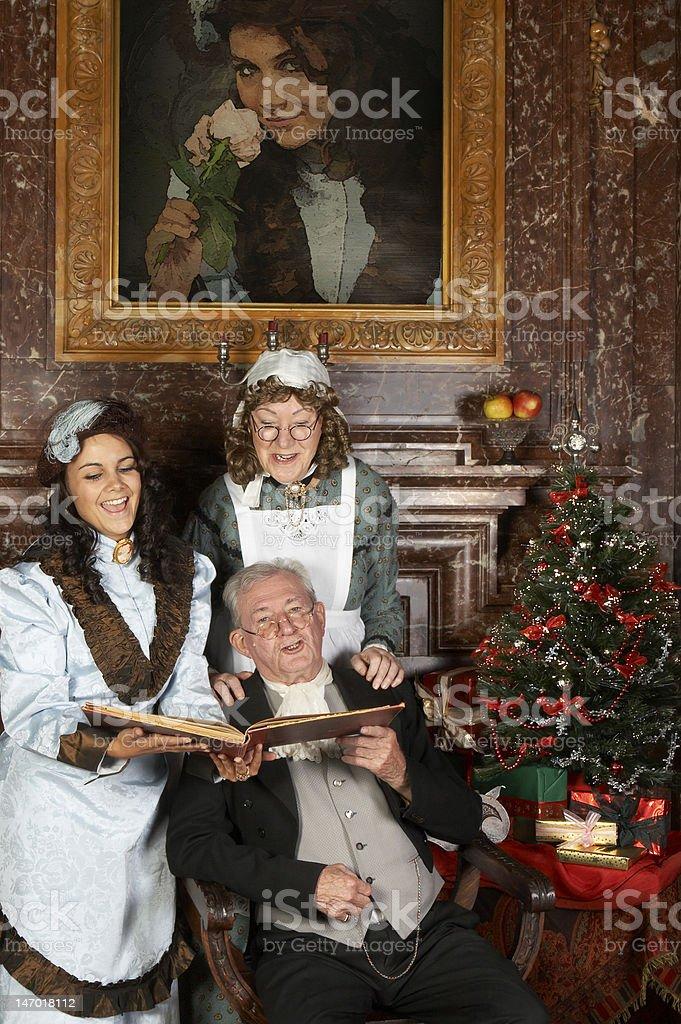 Victorian christmas stock photo