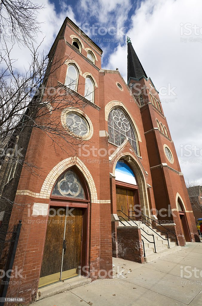 Victorian Church in Chicago royalty-free stock photo