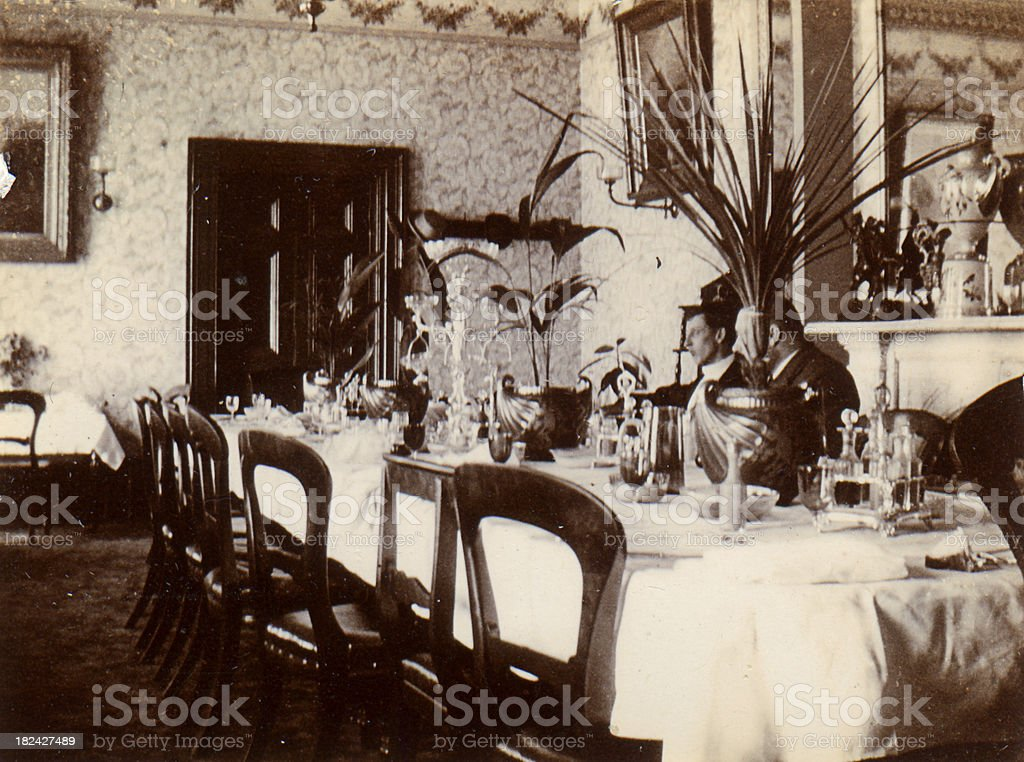 Victorian dining table royalty-free stock photo
