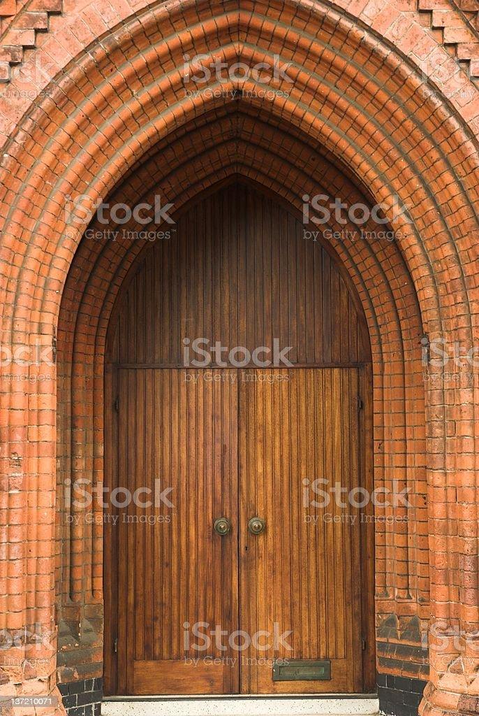 Victorian door stock photo