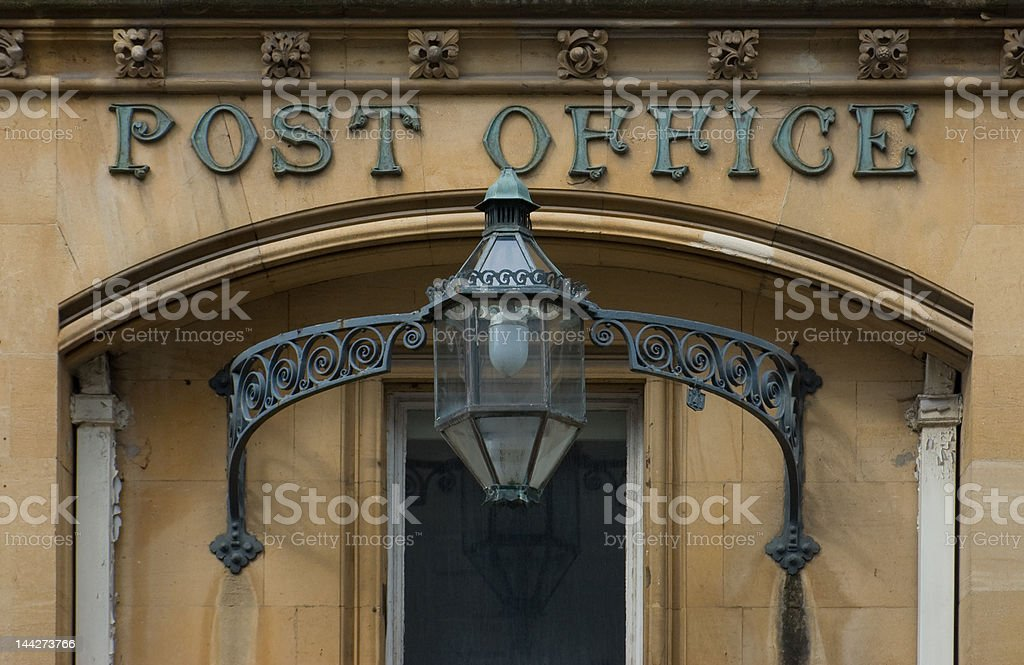 Victorian English Post Office royalty-free stock photo