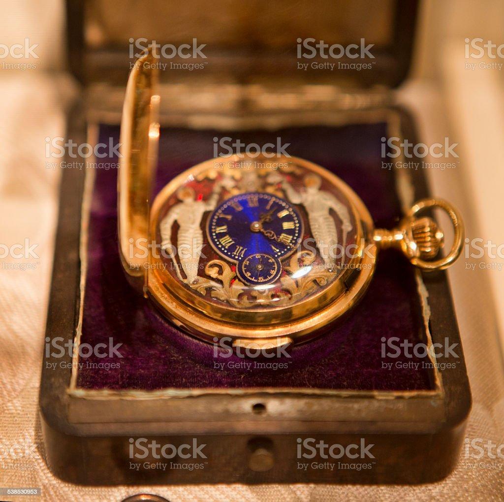 Victorian Era Pocket Watch stock photo