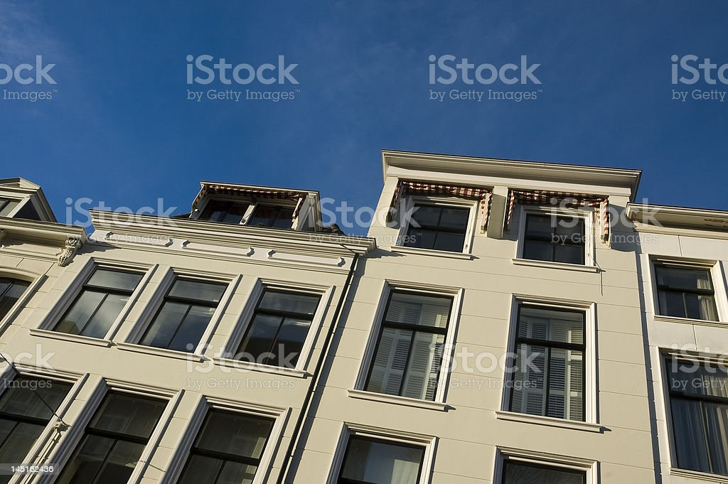 victorian façade architecture royalty-free stock photo