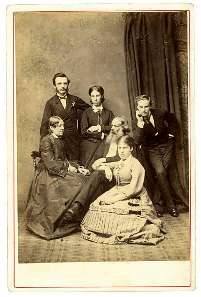 Victorian Family Portrait stock photo