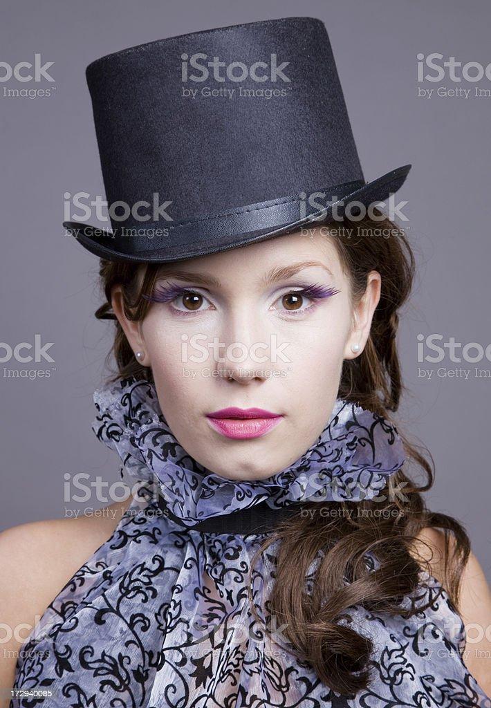 Victorian Fashion model royalty-free stock photo