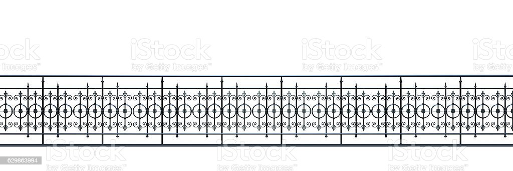 victorian fence stock photo