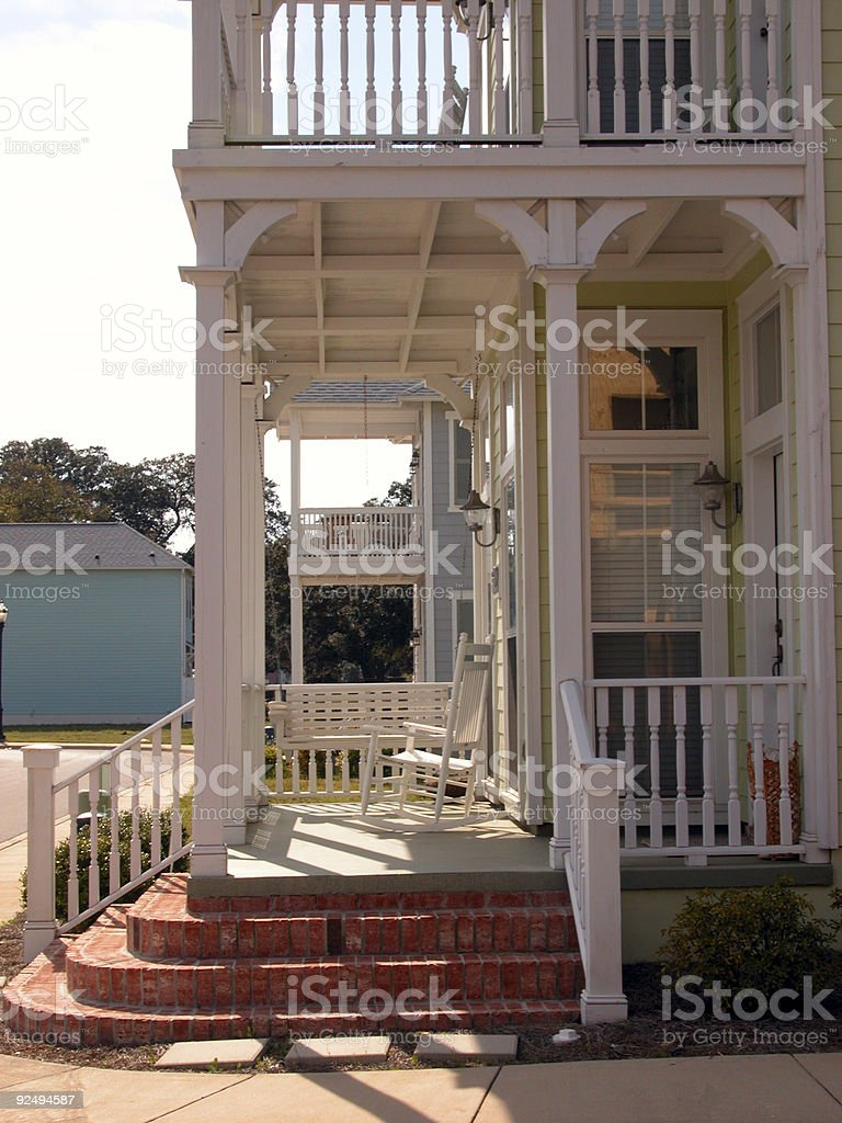 Victorian Front Porch royalty-free stock photo