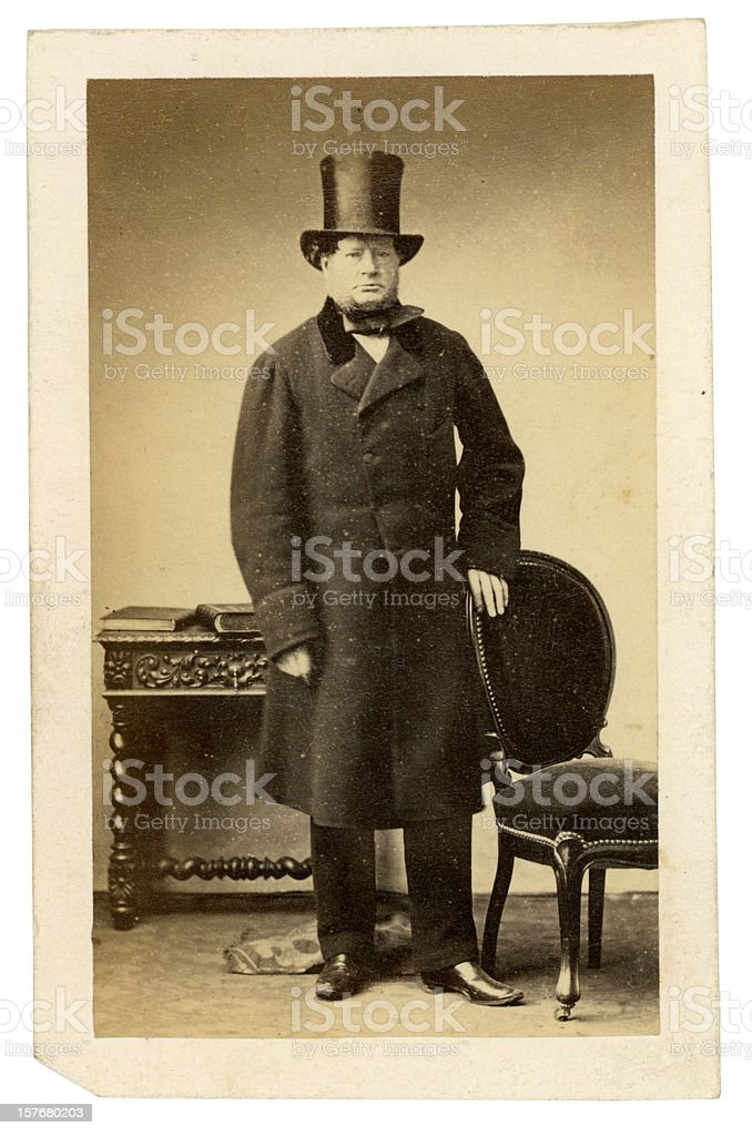 Victorian Gentleman stock photo