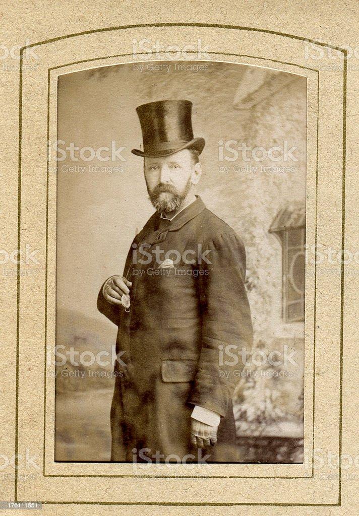 Victorian Gentleman Top Hat royalty-free stock photo