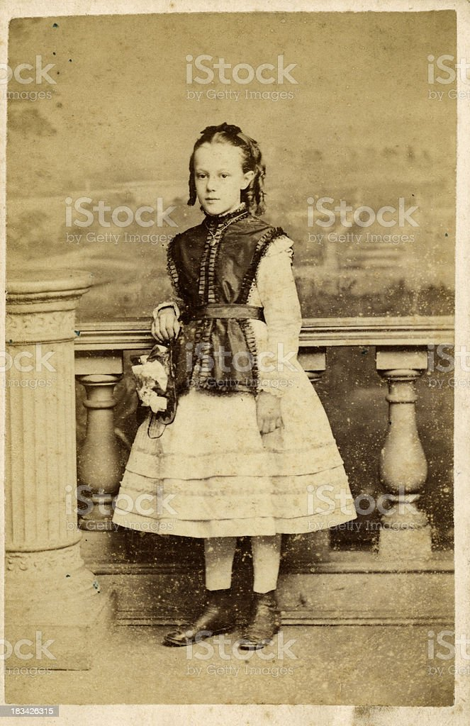 Victorian Girl Old Photograph royalty-free stock photo