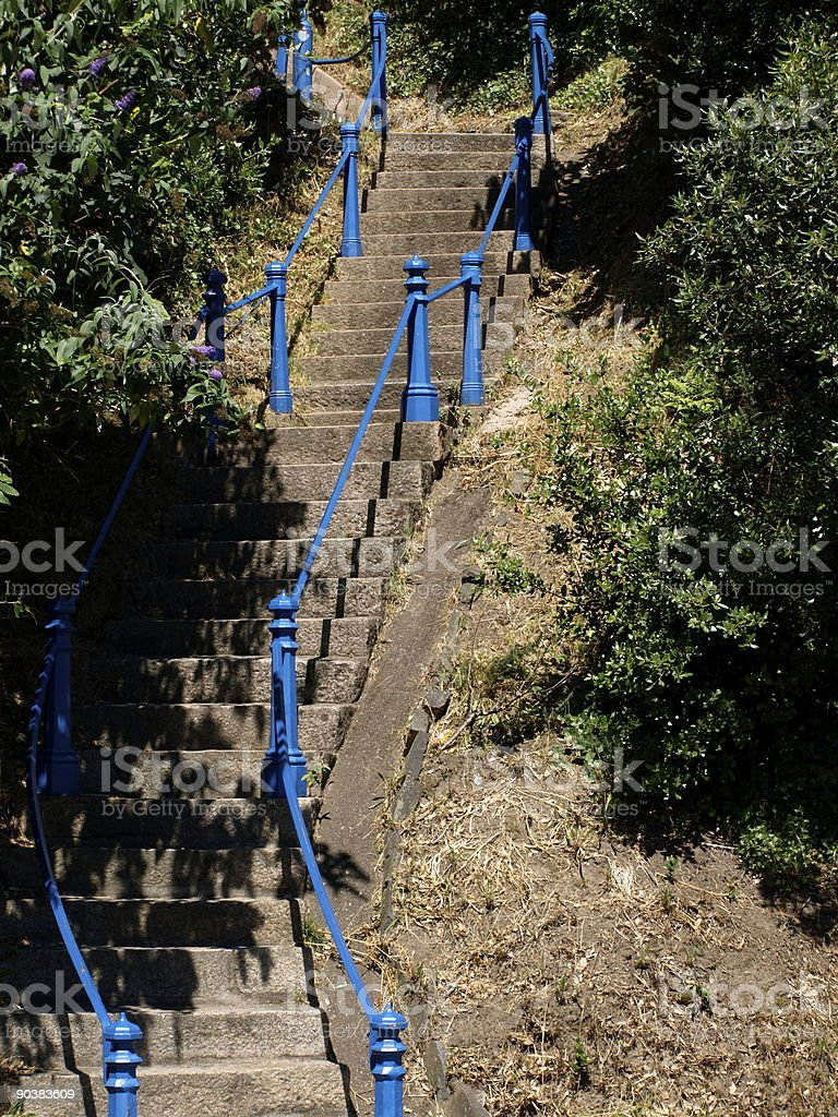 Victorian granite stair case. royalty-free stock photo
