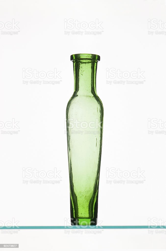 Victorian Green Medicine Bottle royalty-free stock photo