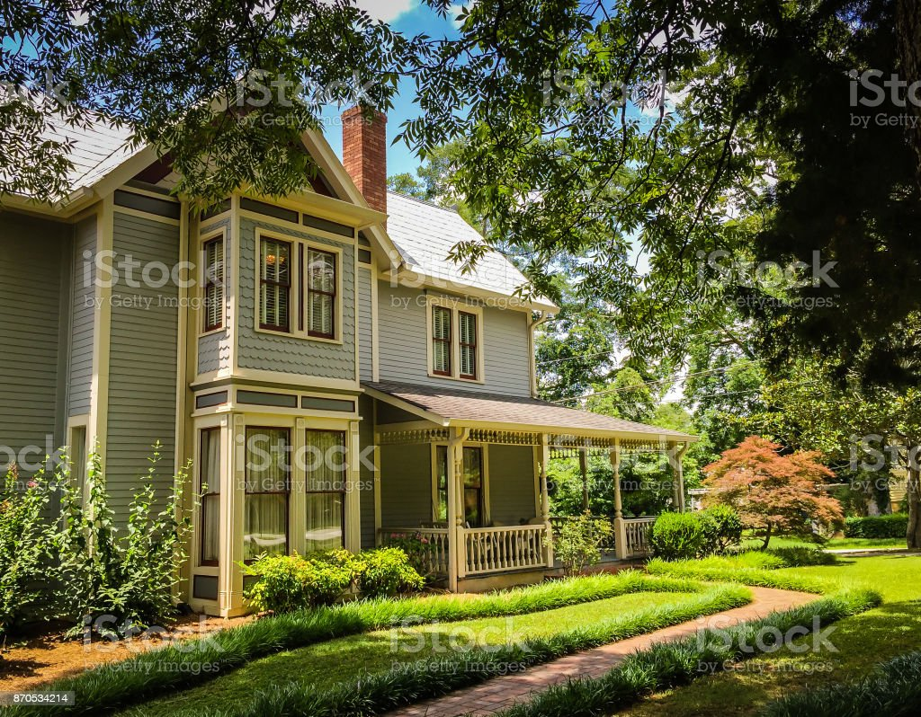 Victorian Home stock photo