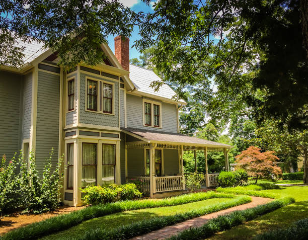 victorian home - south stock photos and pictures