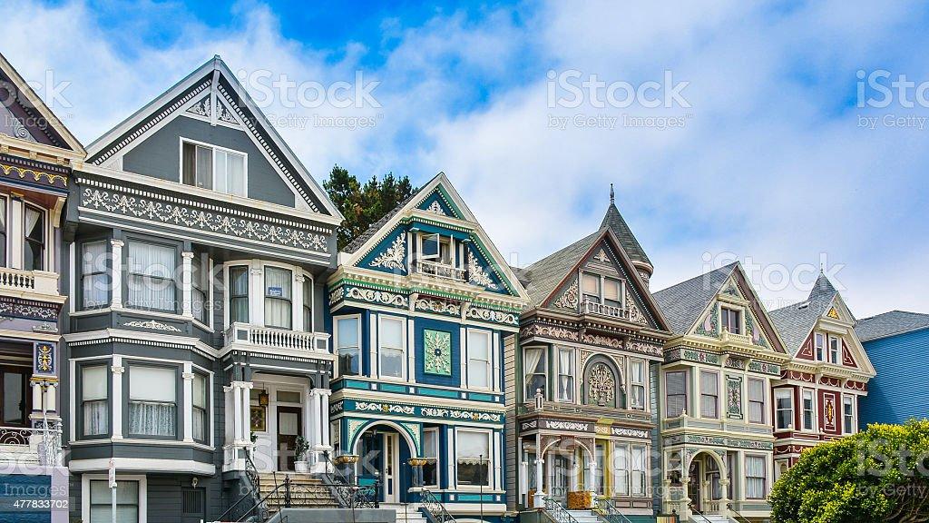 Victorian Homes - San Francisco stock photo