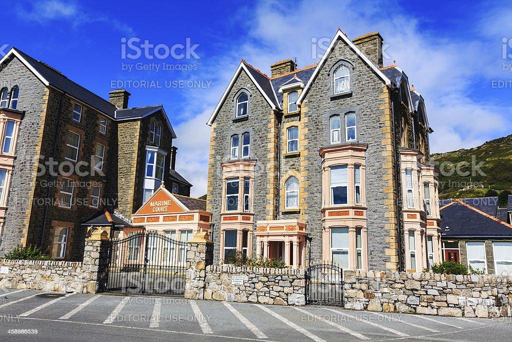 Victorian Hotel Building on Marine Promenade, Barmouth, Wales royalty-free stock photo